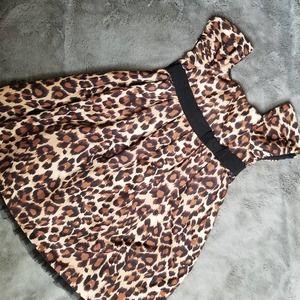 babyGap Leopard Print Tulle Party Dress